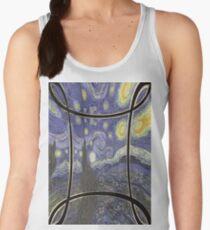 #pattern #abstract #texture #old #window #design #art #metal #decoration #architecture #floral #door #vintage #fence #ornament #blue #gold #church #decorative #grunge #iron #gate #flower #antique Women's Tank Top