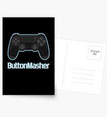 Button masher. Postcards