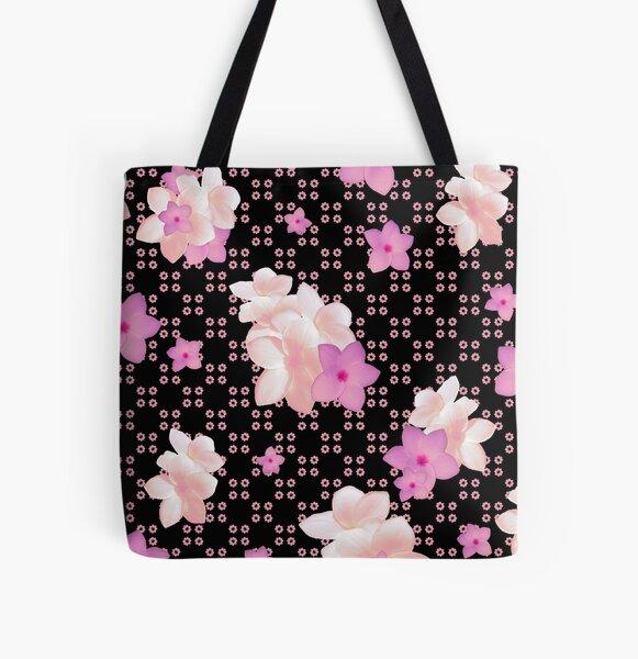 Plumeria Clique All Over Print Tote Bag