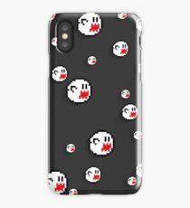 8bit Boo iPhone Case - Flat Grey iPhone Case