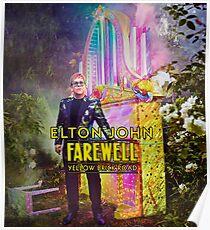Elton Tempes John Farewell Yellow Brick Road Final Tour 2018 Poster