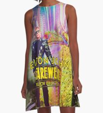 Elton Tempes John Farewell Yellow Brick Road Final Tour 2018 A-Line Dress