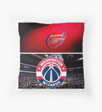 Arsenal , Washington Wizards Throw Pillow