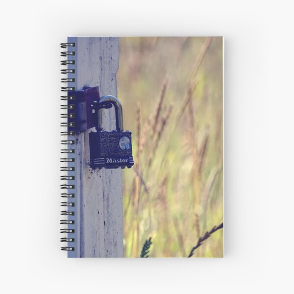 Lock in the filed  Spiral Notebook