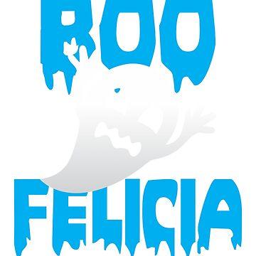 Boo Felicia Halloween tshirt by cecatto
