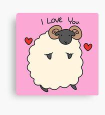 I Love You Ram Canvas Print