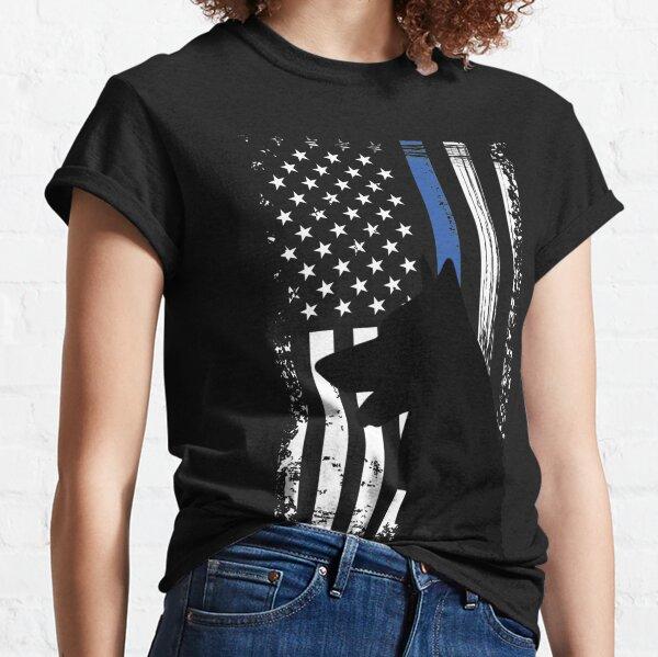 Thin Blue Line Flag K9 German Shepherd Police Dog Classic T-Shirt