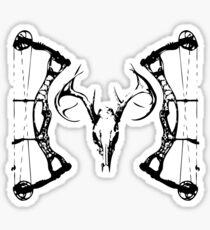 DeerSkull & Compound Bow Sticker