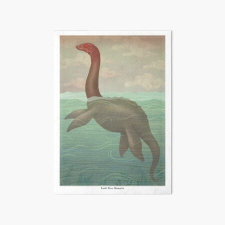 Loch Ness Monster Art Board Print