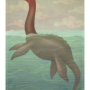 Loch Ness Monster by vladimirsart
