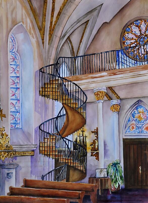 Loretto Chapel Staircase Santa Joy Skinner Redbubble