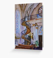 Loretto Chapel Staircase - Santa Fe, NM Greeting Card