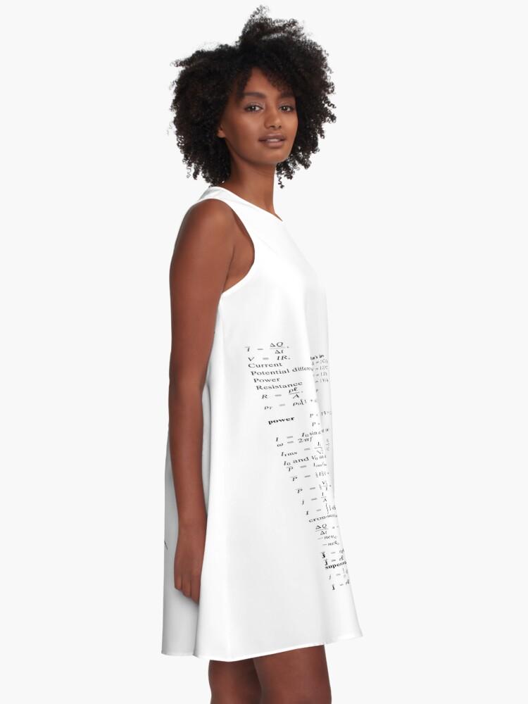Alternate view of Physics Физика #Physics #Физика A-Line Dress
