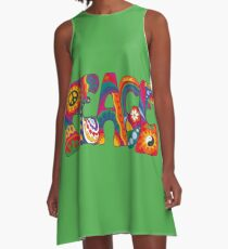 Psychedelic Peace A-Line Dress