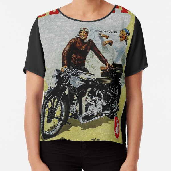 T-Shirt Youngtimer Oldtimer Zündapp KS 50 Bike Motorrad Pinup