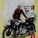 Zundapp Motorcycles.. vintage advertisement by edsimoneit