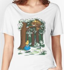 My Neighbor in Wonderland (Kelly Green) Women's Relaxed Fit T-Shirt