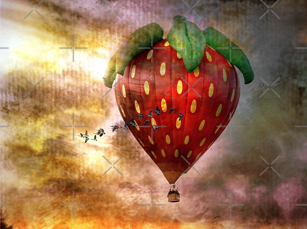 Fly Away With Me In My Strawberry Fantasy by CarolM