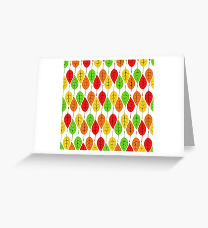 Cascading Autumn Leaves Greeting Card