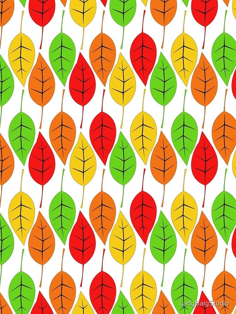 Cascading Autumn Leaves by LadyBaigStudio