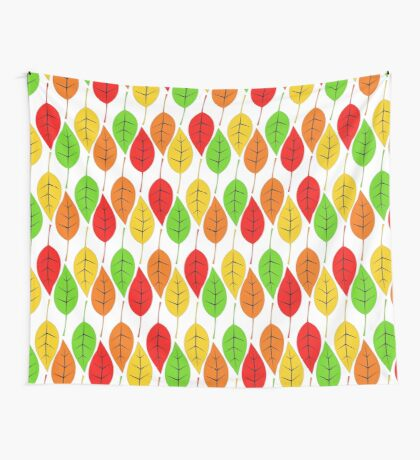 Cascading Autumn Leaves Wall Tapestry