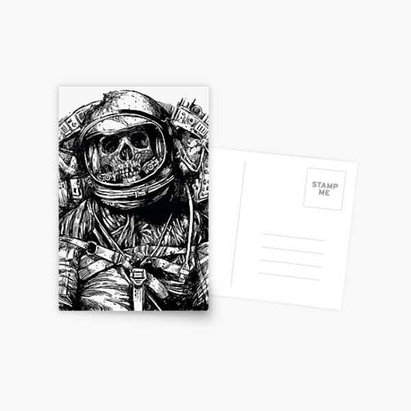 Dead Astronaut Postcard
