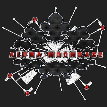 Base Alpha Moon Front Dark Grunge by JWWright