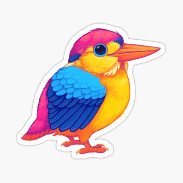 Pride Birds: Oriental Dwarf Kingfisher Sticker