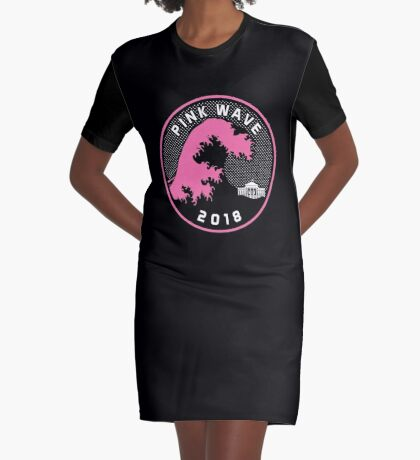 Pink Wave 2018 T-shirts Graphic T-Shirt Dress