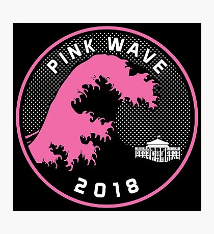 Pink Wave 2018 T-shirts Photographic Print