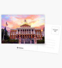 Massachusetts State House #painting #painterly #architecture Postcards