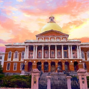 Massachusetts State House #painting #painterly #architecture by andreaanderegg