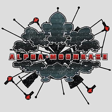 Base Alpha Moon Front Light Grunge by JWWright