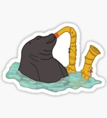Seal Playing Saxophone Vine Sticker