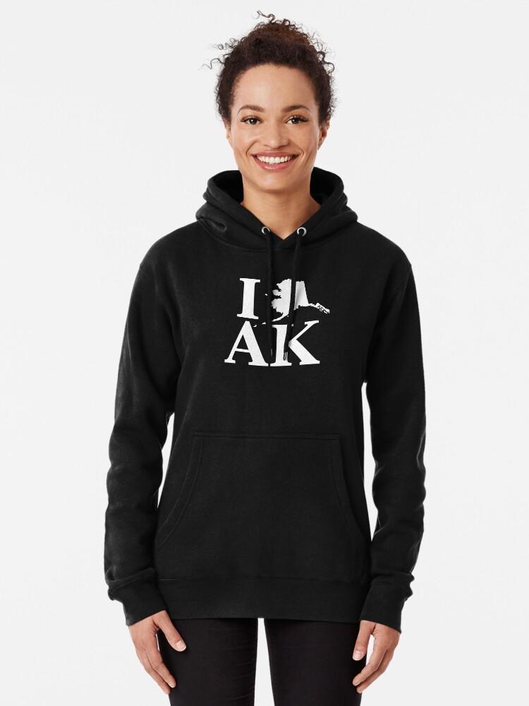 I Love Heart Alaska Black Sweatshirt