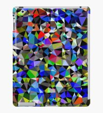geometric triangle polygon pattern abstract background in blue red green iPad Case/Skin