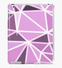 geometric triangle pattern abstract background in pink and white iPad Case/Skin