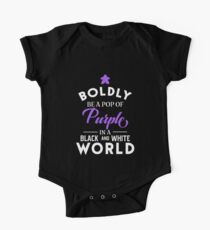 Purple Meeple Boldly Be A Pop of Color Board Games Meeples and Tabletop RPG Addict One Piece - Short Sleeve
