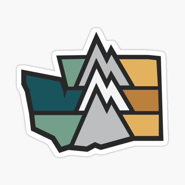 Washington Mountains Sticker