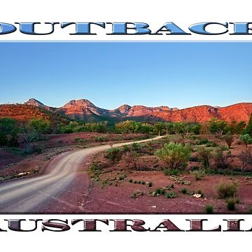 Outback Trail (poster on white) by RayW