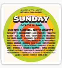 austin city limits 2018 mantra Sticker