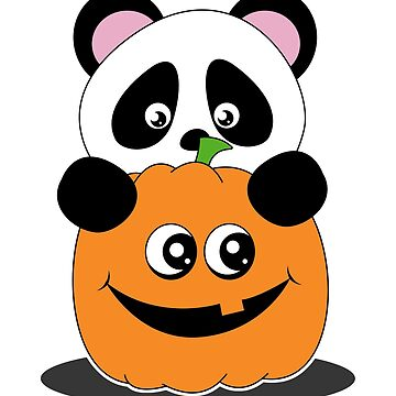 Sweet panda with pumpkin by stoneyy