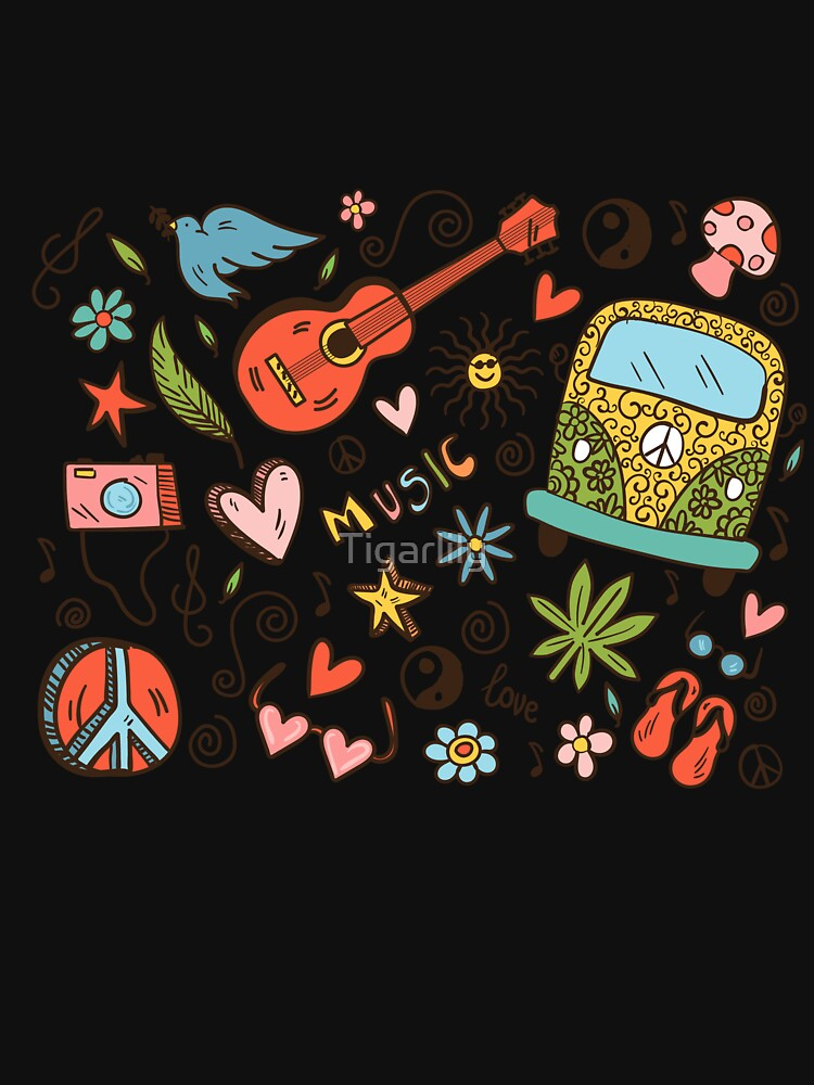 Hippy Doodle Peace Love Music by Tigarlily