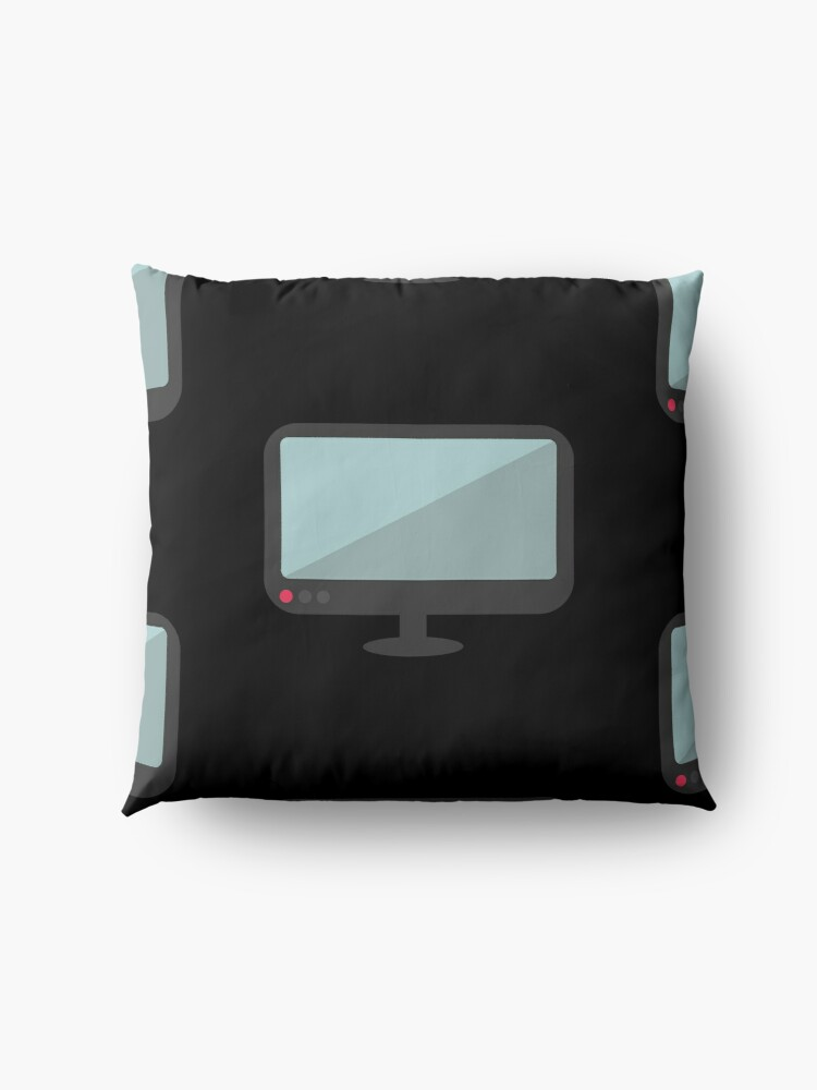 Alternate view of Flat Art Monitor Computer Floor Pillow