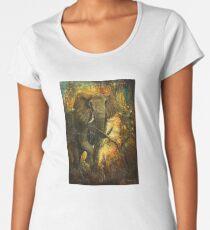 Zorniges Elfenbein  Frauen Premium T-Shirts