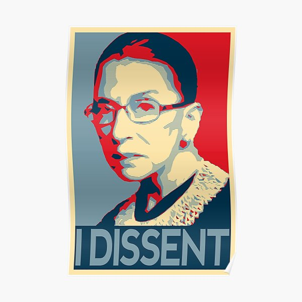 Ruth Bader Ginsburg Je ne suis pas d'accord avec le design RBG Poster