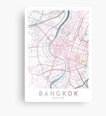 Bangkok City Map, Thailand, Aisa, World Travel, Traveler Gift Canvas Print