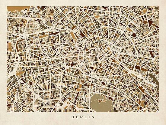 Berlin Deutschland Straßenkarte von Michael Tompsett