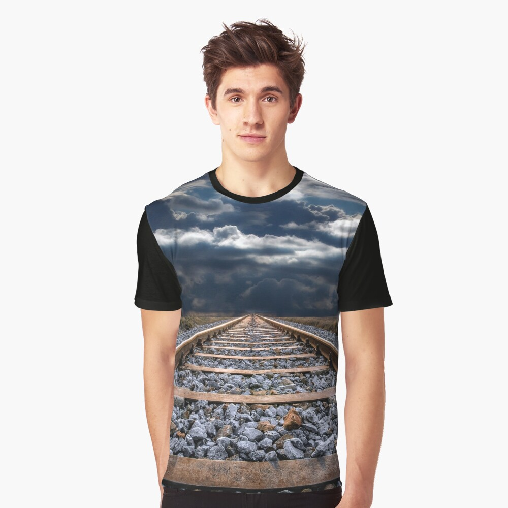 Train tracks Graphic T-Shirt Front