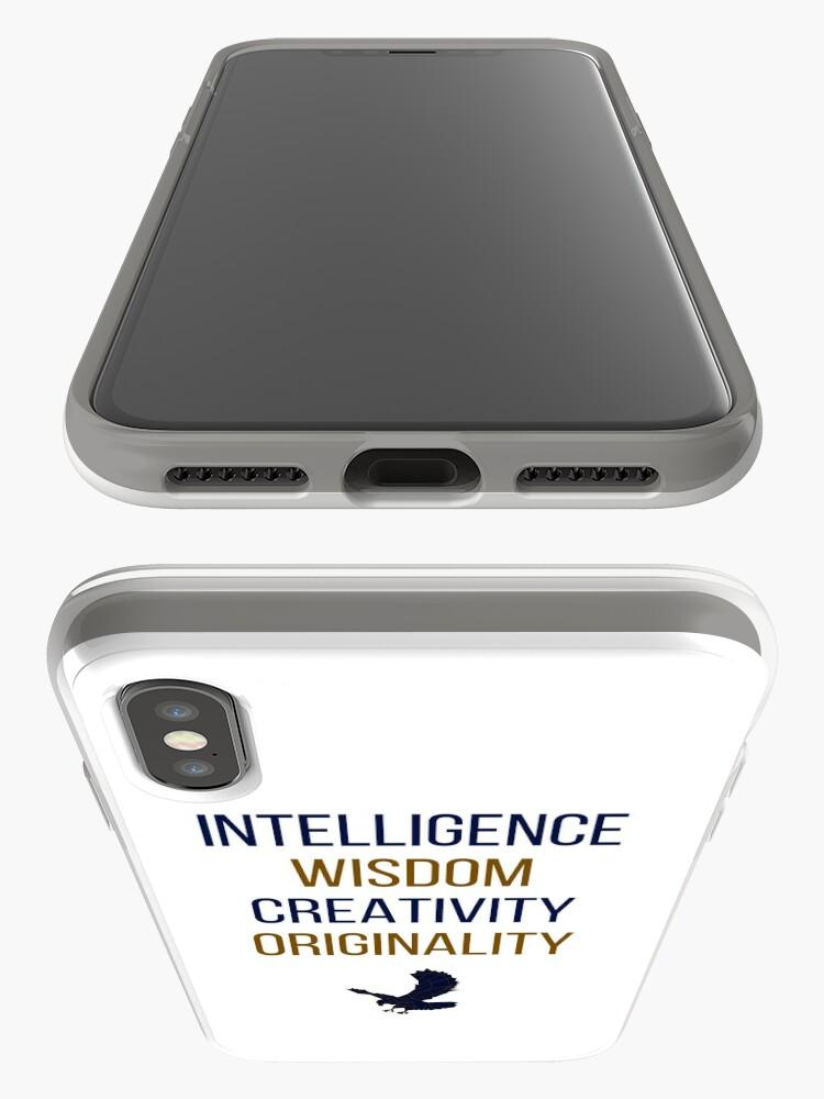Alternative Ansicht von Blaue Wörter iPhone-Hülle & Cover